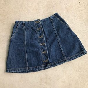 Wilfred Free Ahrens Button Front Denim Mini Skirt